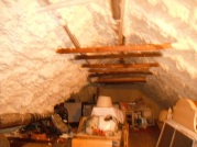 Attic with spray foam