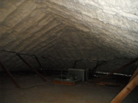 Spray foamed attic